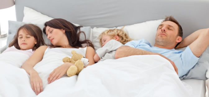 family sleeping CO silent